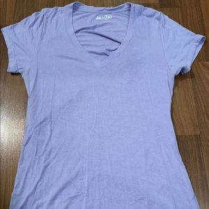 Jo and Jax Purple V-Neck Tee with Open Back